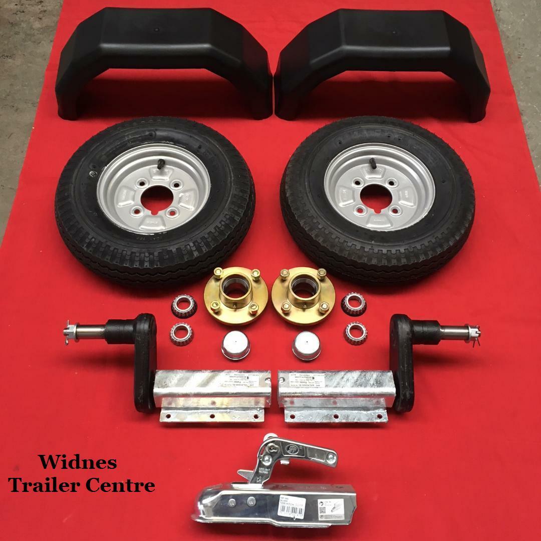 AB Tools 350kg Trailer Suspension Unit /& Cast Wheel Hub 4 PCD 1 Taper Bearing Pair